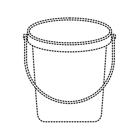 bucket plastic cleaning element tool handle vector illustration  イラスト・ベクター素材