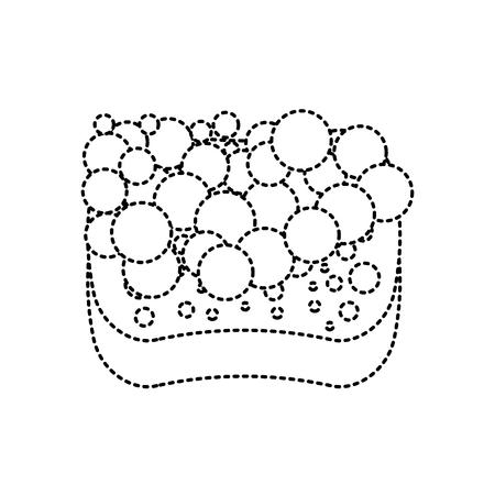 sponge bubbles foam soap clean vector illustration Illustration