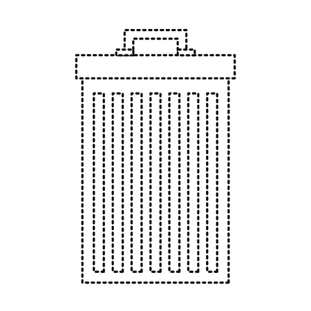 trash can container garbage recycling vector illustration