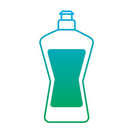 plastic bottle detergent for dishwashing liquid cleaning laundry vector illustration degrade line color Иллюстрация