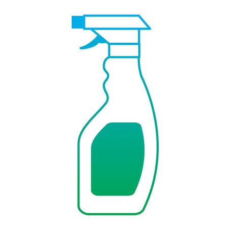 plastic bottle spray hygiene cleaning vector illustration degrade line color