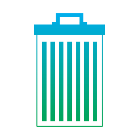 trash can container garbage recycling vector illustration degrade line color Illustration