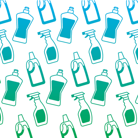 bottle detergent and spray clean domestic wallpaper hygiene vector illustration