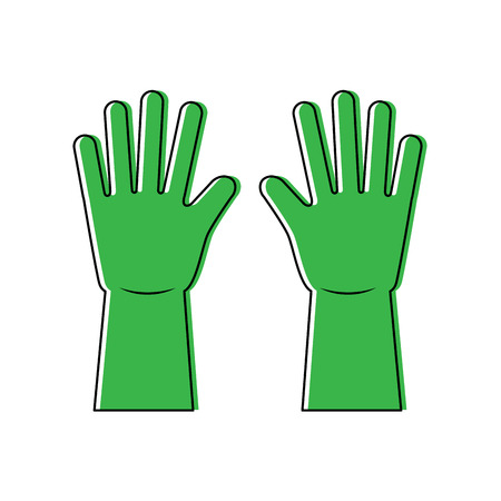 cleaning gloves vector illustration Çizim