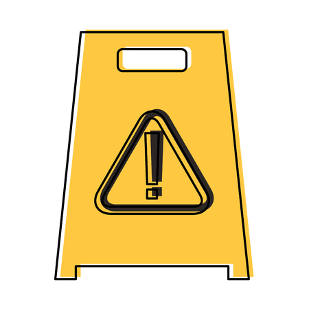 slippery wet floor sign warning vector illustration