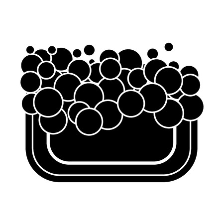 foam bubbles icon vector illustration Stock Illustratie