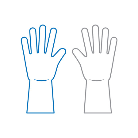 pair of gloves vector illustration