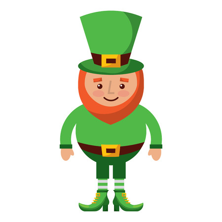 A cute cartoon Leprechaun St Patricks Day mascot character
