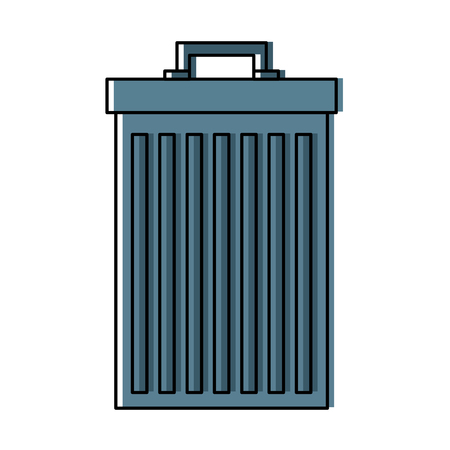 Trash can container garbage recycling vector illustration Illustration