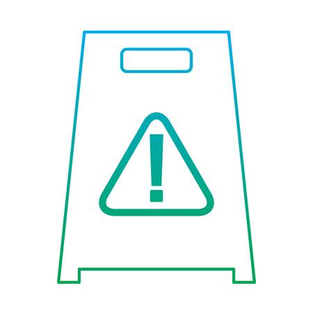 Slippery wet floor sign warning cleaning vector illustration Çizim