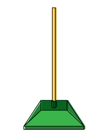 A plastic dustpan cleaning equipment, isolated vector illustration