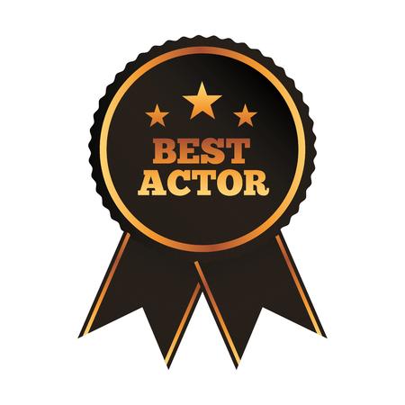 best actor award vector illustration Ilustração