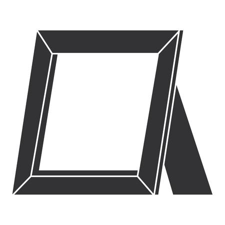 肖像画木製の孤立したアイコンベクトルイラストデザイン  イラスト・ベクター素材