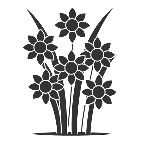 cute garden flowers icon vector illustration design Ilustrace