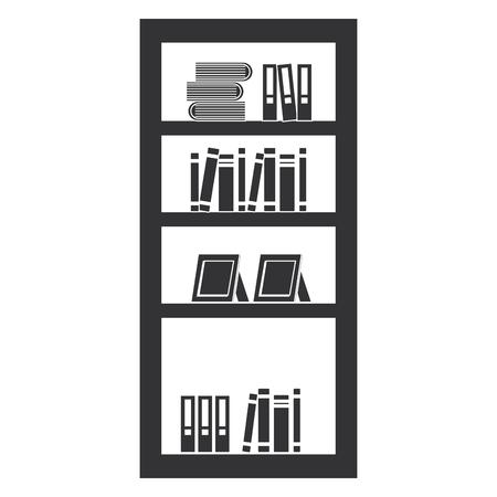 Shelf with books icon vector illustration design Illustration
