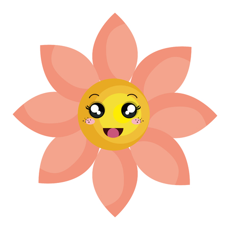 A cute flower character vector illustration design