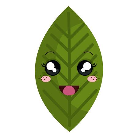 A leaf plant character vector illustration design Illustration