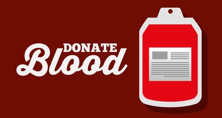 donate blood bag plastic supply vector illustration Illusztráció