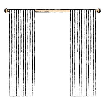 window courtain isolated icon vector illustration design