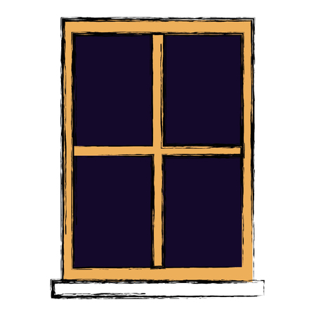window house isolated icon vector illustration design