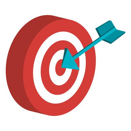 Target with arrow icon vector illustration design. Illustration