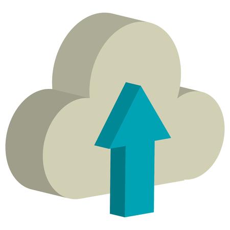 Cloud computing with arrow upload vector illustration design.