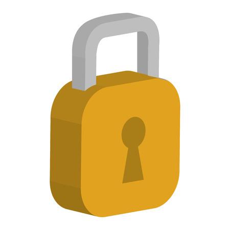 Safe padlock isolated icon vector illustration design.