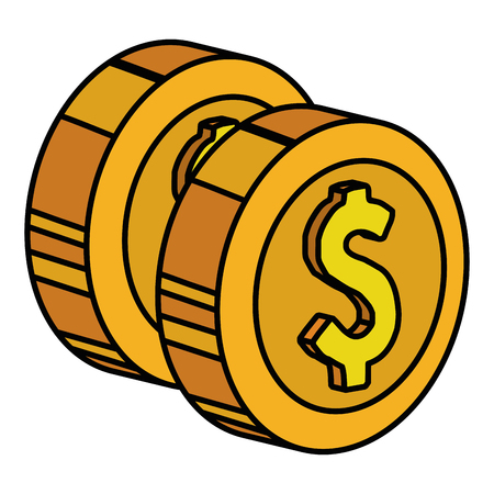Coins money isolated icon vector illustration design. 写真素材 - 95624512