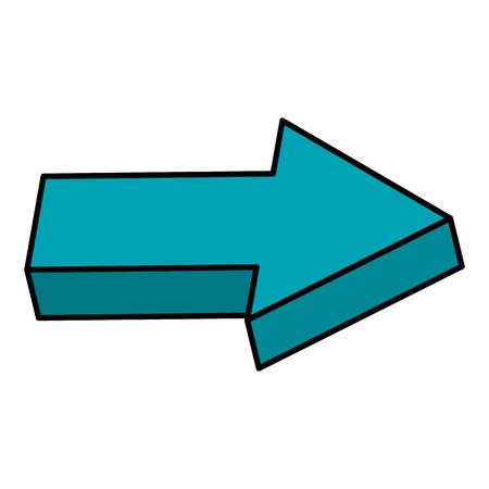 Directional right arrow icon vector illustration design. Çizim
