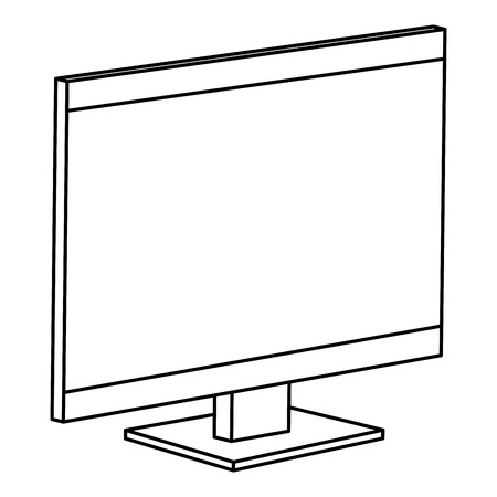 Monitor computer isolated icon vector illustration design. Çizim