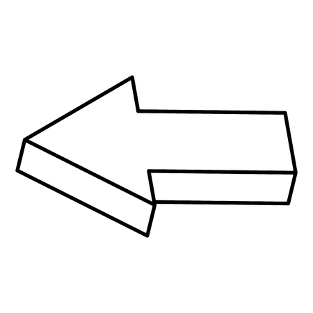 directional arrow left icon vector illustration design Çizim