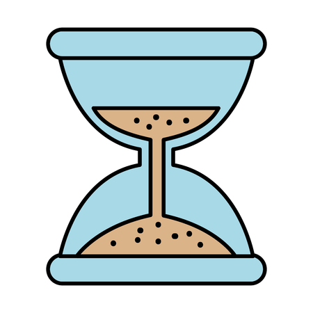 Hourglass time isolated icon vector in colored illustration design.