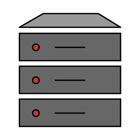 Data server isolated icon vector illustration design.