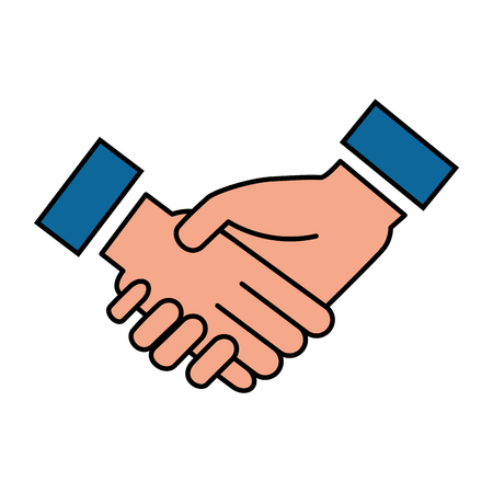 business hands done deal vector illustration design Stock Illustratie