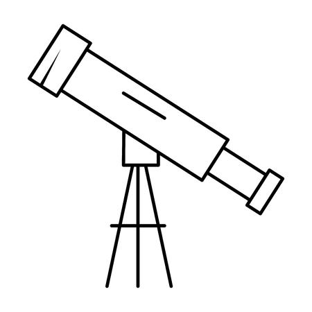 Telescope device isolated icon vector illustration design.