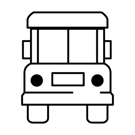bus front isolated icon vector illustration design Zdjęcie Seryjne - 95617169