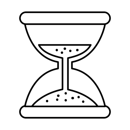 hourglass time isolated icon vector illustration design Banque d'images - 95603853