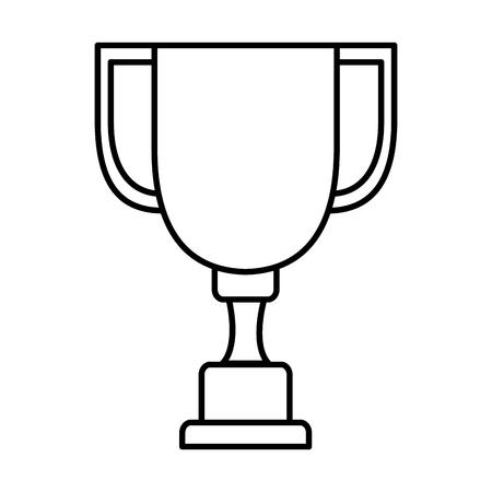 Trophy cup isolated icon vector illustration design. Ilustração