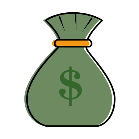 Money bag isolated icon vector illustration design.