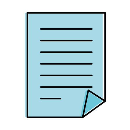 Document paper isolated icon vector illustration design.