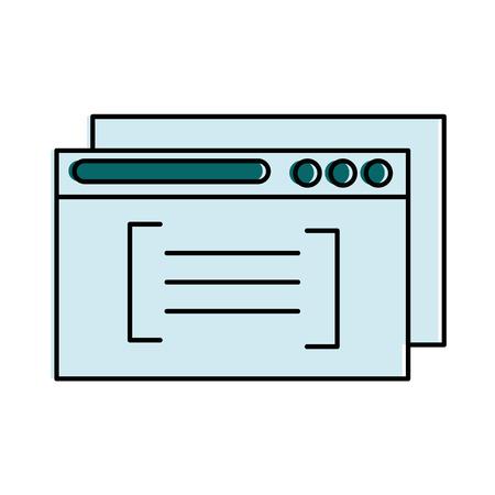 Template windows isolated icon vector illustration design.