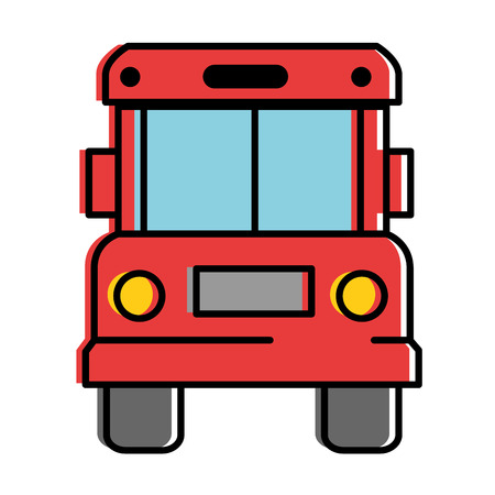 bus front isolated icon vector illustration design