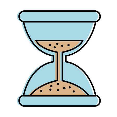 Hourglass time isolated icon vector illustration design. Illustration