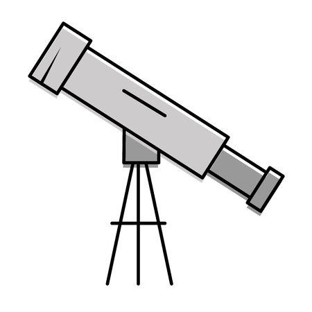 telescope device isolated icon vector illustration design Stok Fotoğraf - 95615013