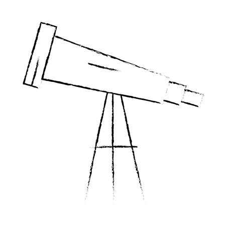 Ontwerp van de het pictogram vectorillustratie van de telescoop het apparaat geïsoleerde