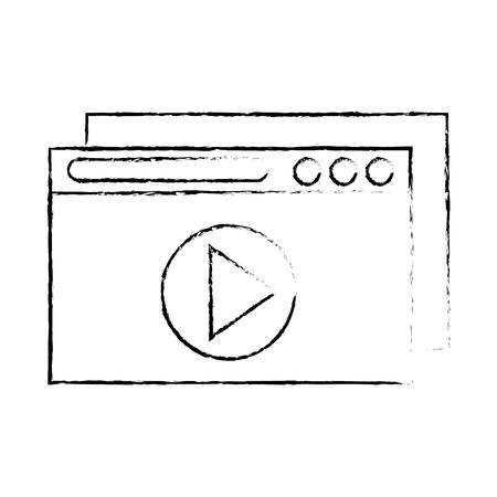 template windows isolated icon vector illustration design Illustration