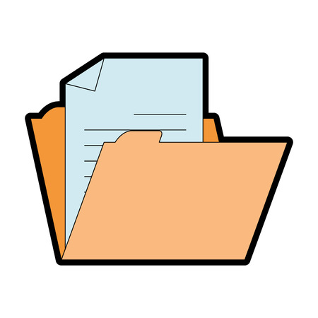 File folder isolated icon vector illustration design Stock Illustratie