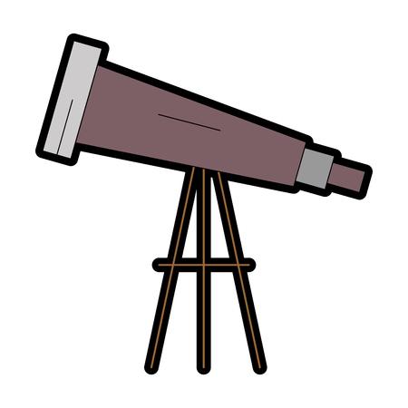Ontwerp van de het pictogram vectorillustratie van de telescoop het apparaat geïsoleerde Stockfoto - 95615052