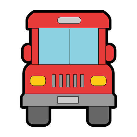 Bus front isolated icon vector illustration design Zdjęcie Seryjne - 95607295