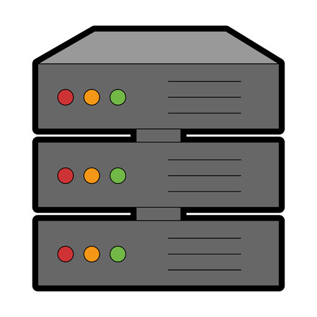 data server isolated icon vector illustration design